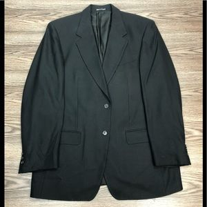 Yves Saint Laurent Solid Black Blazer 42R YSL